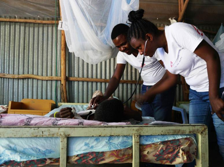 Visceral Leismaniosis patient being treated at the Médecins Sans Frontières (MSF) clinic in Abdurafi, Ethiopia