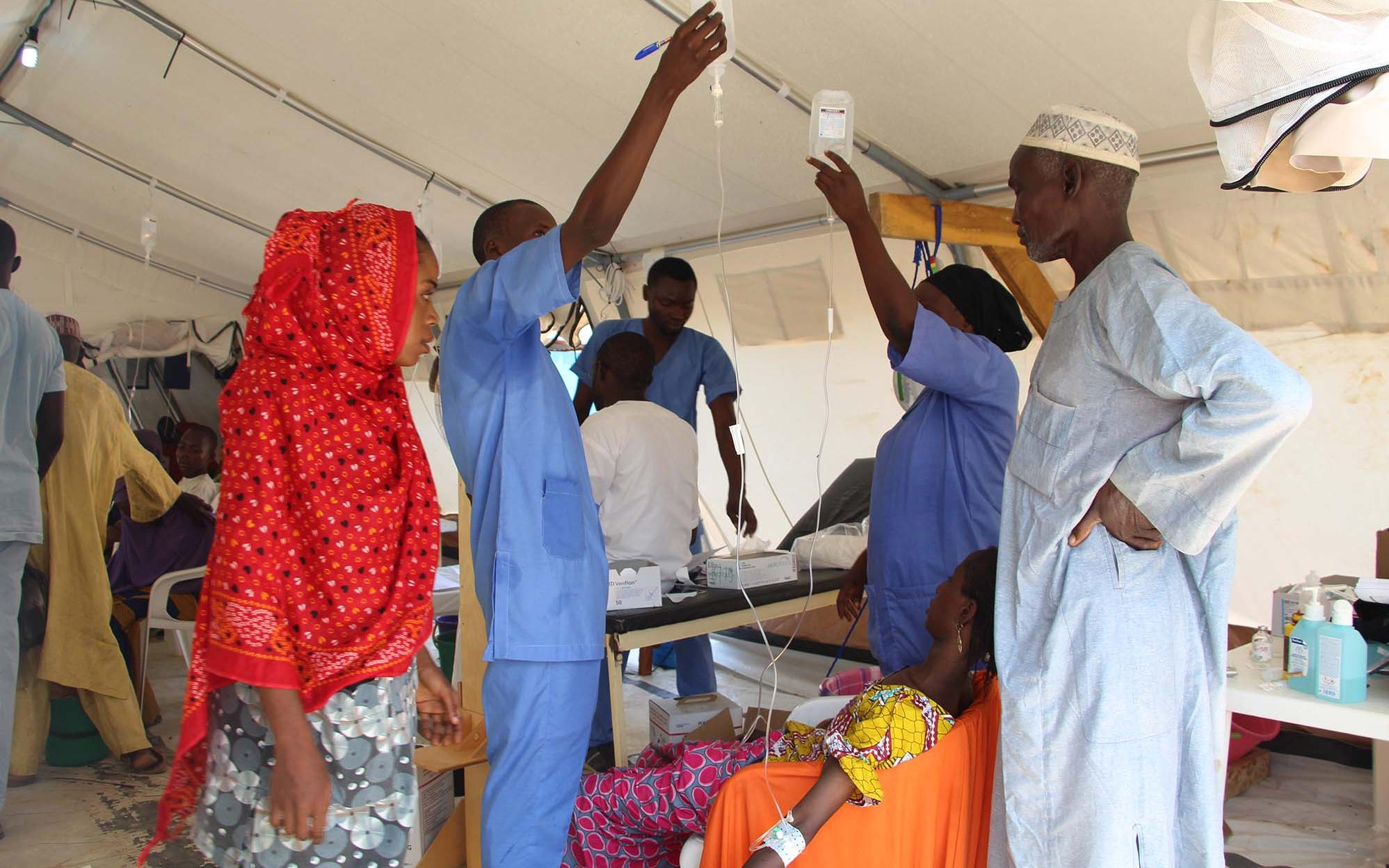 Cholera treatment center in Dala, Maiduguri, Nigeria